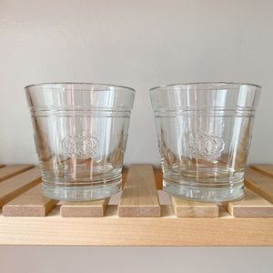 Vintage Rare Crown Royal Pair of Whiskey Glasses